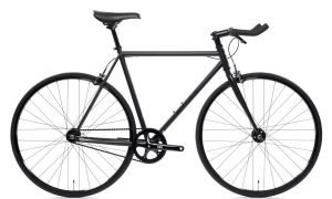 state bicycle  fixed gear matte black